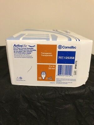 "Convatec 125358 Active Life, Convex Barrier, 12"" Drainable Pouch Box Of 10"