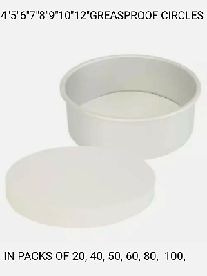 """Round Baking Paper Tin Liners 20 Pack **OFFER** 9/"""" Inch Greaseproof Circles"""
