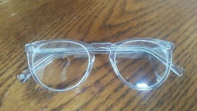 7b0ee02a26 WARBY PARKER HASKELL 500 Crystal eyeglass frames clear 49 22 145 New ...