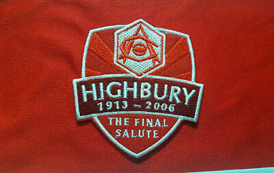 Memory 1913-2006 Arsenal Highbury AFC Sew Iron on Embroidered Patch Badge
