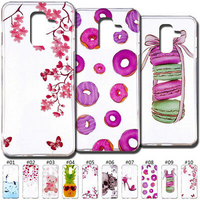 For Samsung Galaxy A6+(2018) Silicone Soft Case Cover Slim TPU Skin Painted Back
