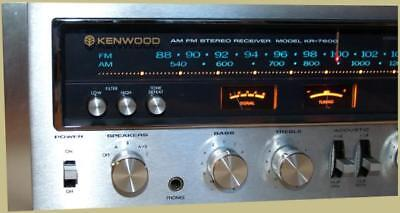 KR-7600 6600 VINTAGE Receiver WARM WHITE LED(15-LAMPS)METER STEREO FRONT DIAL