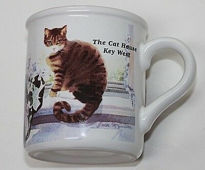 "Vintage Mug ""the Cat House"" * Key West * Tabby Cat In The Window - U.s.a."