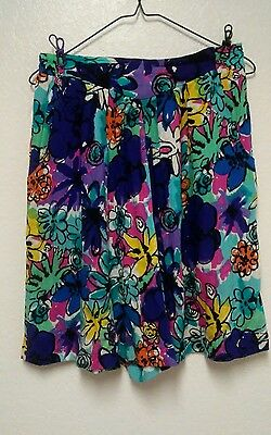 Vintage Women's Options Melrose Shorts Size L Culottes Grunge 90s High Waist H14