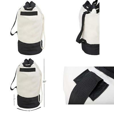 1cb150bf5aee NEW HEAVY CANVAS Laundry Bags W Shoulder Strap Small Medium Large ...