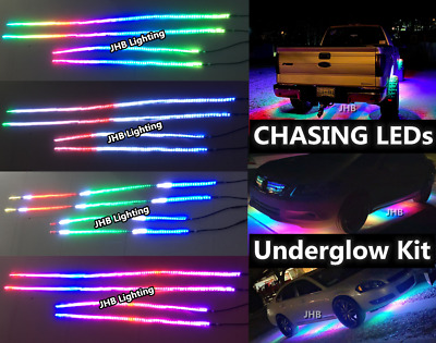 2Strips/Set 6.5feet Dream Color Chasing IP68 LED Pedal Strips(Bluetooth Control)