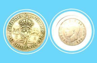 1938 Great Britain Two Shillings-Georges VI Silver Coin-Lot:251