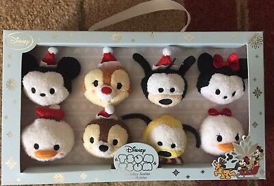 Disney Store Christmas Holiday Mickey Tsum Tsum boxed set of 8 NEW 2015 NIB