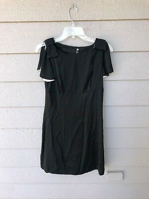 450 Red Valentino Black Dress With Bows Womens Sz 40 2999