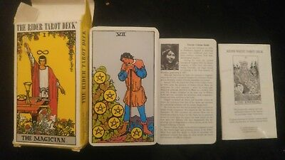 Authentic The Rider Tarot Deck 1971 inspired Made in Switzerland -Waite 78 Cards