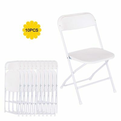 10-PACK Wedding Party Event Quality Commercial Plastic Stackable Folding Chairs