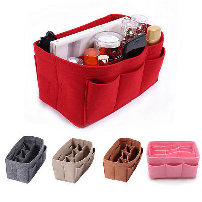 Small Cosmetic Bag Makeup Bag Organizer Bag Multi Pocket Case Felt Tote Handbag