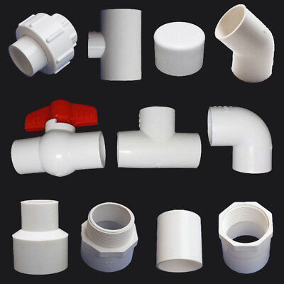20/25/32mm PVC Pipe Connectors Ball Valve/End Cap/90° Elbow/Tee  Pipe Adapter