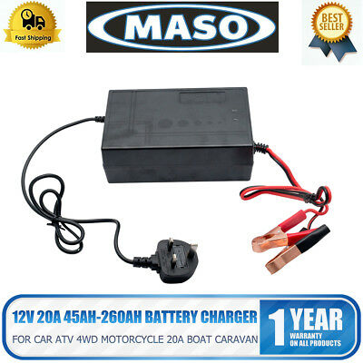 NEW ! 12V Battery Charger - 20 Amp12V / 240V 20A ATV Boat 4WD Caravan Motorcycle