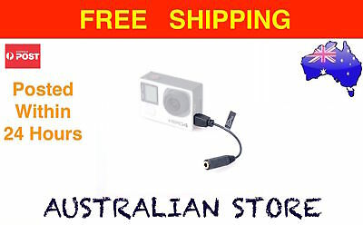 GoPro Hero 3 3+ 4 - 3.5mm Mic Microphone Adapter Cable Mini USB to 3.5mm Earjack
