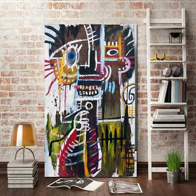 Unframed Modern Abstract Oil Painting Graffiti Character Huge Wall Decor Canvas