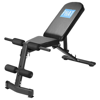 PHAT® Exercise Utility Bench for Upright, Incline, Decline, and Flat Exercise