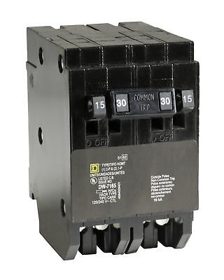 Square D by Schneider Electric HOMT1515230CP Homeline 2-15-Amp Single-Pole 1-...
