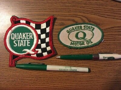 Vintage Advertising Ink Pen & Patches Quaker State Oil