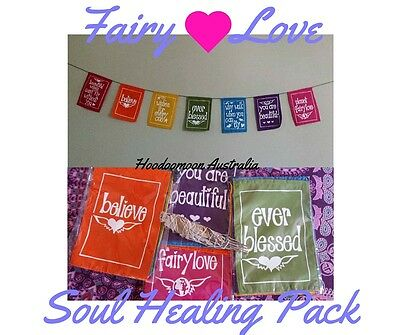 Fairy Love Chakra Flags with Healing Smudge Bundle