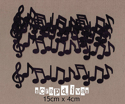 DESIGN 01 - MUSIC NOTE BORDER Die Cuts - Toppers - Cardstock - Scrapbooking x 6