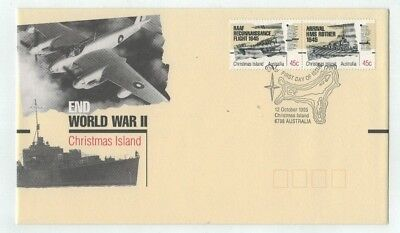 1995 Christmas Island - End of World War II First Day Cover FDC