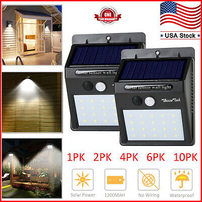 Solar Lights Motion Sensor Wall Light Outdoor Waterproof Garden Yard Lamp 20 LED