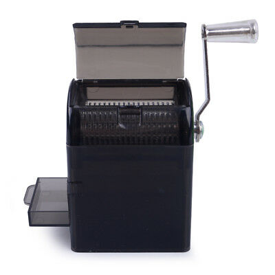 Muller Shredder Smoking Grinder Case Hand Crank Crusher Tobacco Cutter - Black