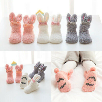 Kids Newborn Soft Rabbit Socks Unisex Baby Winter Warm Sock Anti-Slip Non-Slip