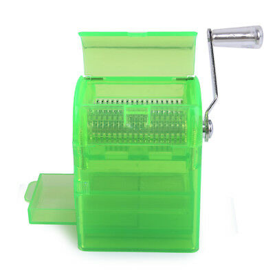 Muller Shredder Smoking Grinder Case Hand Crank Crusher Tobacco Cutter - Green