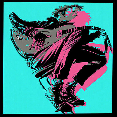 "Gorillaz High The Now Now Poster 32x32"" 24x24"" 18x18"" 2018 New Music Silk"
