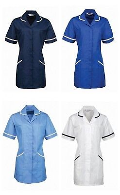 New Women's Nurse Healthcare Hospital/Nursing Home Classic Piping Tunic Top