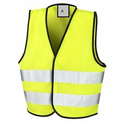 New Childrens Builder Safety Hi Vis Visibility Neon Yellow Reflective Vest
