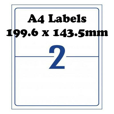 A4 Self Adhesive Address Labels Laser Inkjet Print Mailing Stickers 2 Per Sheet