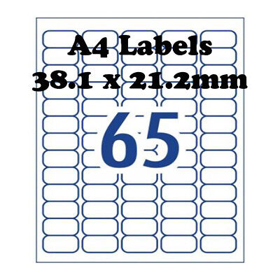 A4 Self Adhesive Address Labels Laser Inkjet Print Mailing Stickers 65 Per Sheet