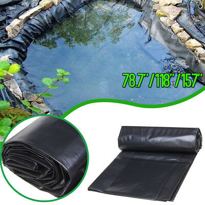 3 Size Fish Pond Liner Gardens Pools HDPE Membrane Reinforced Landscaping Black