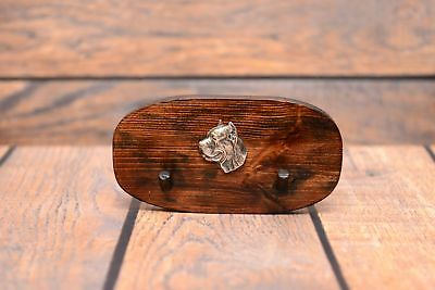 Cane Corso - wooden hanger with silver plated relief of a purebred dog, Art Dog