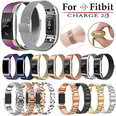 For Fitbit Charge 2 3 Replacement Strap Milanese Band Stainless Steel Magnet ME