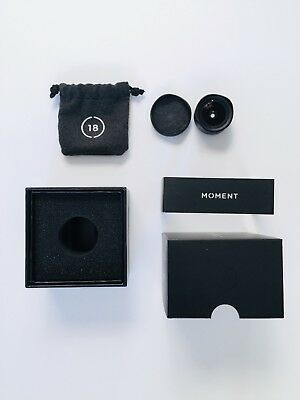 Moment 18mm Wide Lens V1 Excellent Condition with Original Lens Cap, Bag and Box