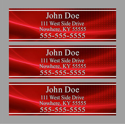 Custom Red Club Shaft Labels With Your Name, Address & Phone Number