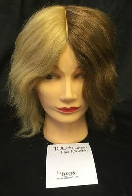 ANNIE COSMETOLOGY BEAUTY MANNEQUIN HEAD 100% HUMAN HAIR Carol (#4819) New
