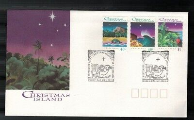 1993 Christmas on Christmas Island FDC