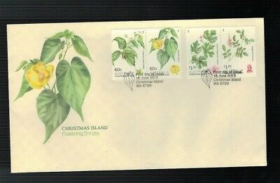 2013 FDC Christmas Island. Flowering Shrubs. FDC