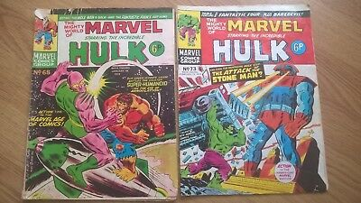The Mighty World Of Marvel 11 Comics Job Lot From 1974/1977