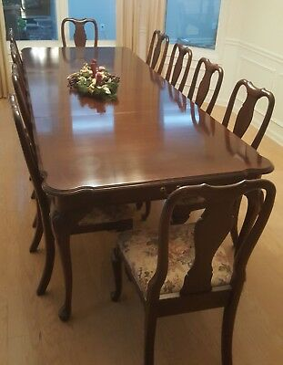 ethan allen dining room table and 10 chairs 1 800 00 picclick rh picclick com Ethan Allen Dining Room Sets Ethan Allen Dining Room Sets