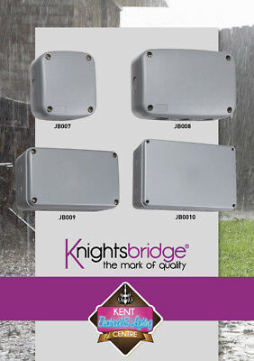 Knightsbridge Weatherproof Junction Boxes Outdoor IP66 Power Connection Enclosur