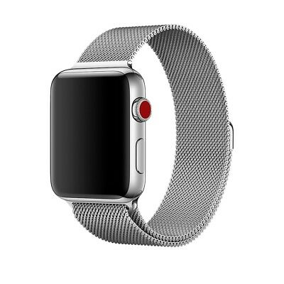 Open Box OEM Original Silver Milanese Loop Apple Watch Band 42mm ** Band Only**
