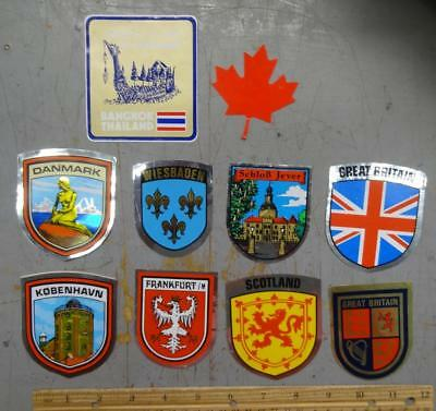 10 Stickers From Overseas Countries - Travel Souvenirs #nm446