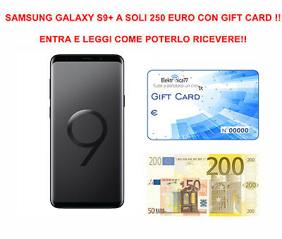 Promo! Gift Card Per Acquisto Samsung Galaxy S9+ G965 64 Gb Italia