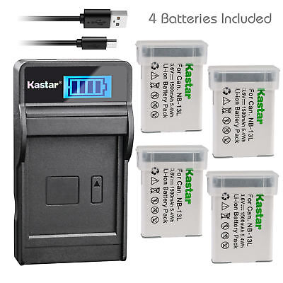 NB-13L Battery & LCD Charger for Canon PowerShot G5 X, G7 X, SX720 HS, SX730 HS